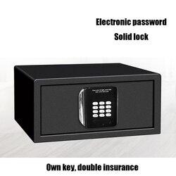 1PCS Luxe Thuis Sieraden Hotel Veilig Inbreker Lock Keypad Black Veiligheid Beveiliging Box Koudgewalst Staal Elektronische Wachtwoord