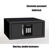 1PCS Luxury Home Jewelry Hotel Safe Burglar Lock Keypad Black Safety Security Box Cold Rolled Steel Electronic Password