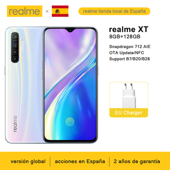 Global Version realme XT 8GB 128GB NFC Mobile Phone Snapdragon 712 AIE 64MP Quad Camera 4000mAh 20W VOOC Fast Charge Cellphone