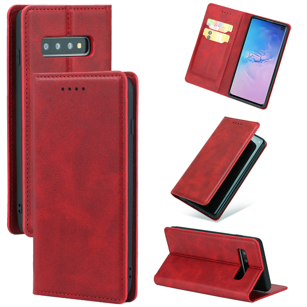 PU+TPU Flip Wallet Leather Case For Samsung S10 S10PLUS S10LITE <font><b>S105G</b></font> Bracket Support Book Phone Case image