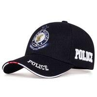 Nova moda boné de beisebol ao ar livre chapéu casual hip hop chapéu ajustável unisex polícia carta bordado presente para namorada