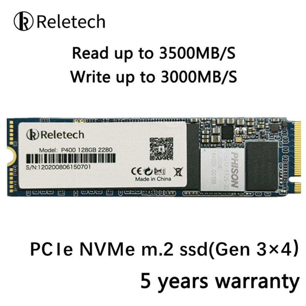 Reletech m2 ssd 3*4 PCIe nvme 512 ГБ 1 ТБ 256 ГБ 2280 твердотельный накопитель независимый кэш внутренний жесткий диск для ноутбука, настольного компьютера