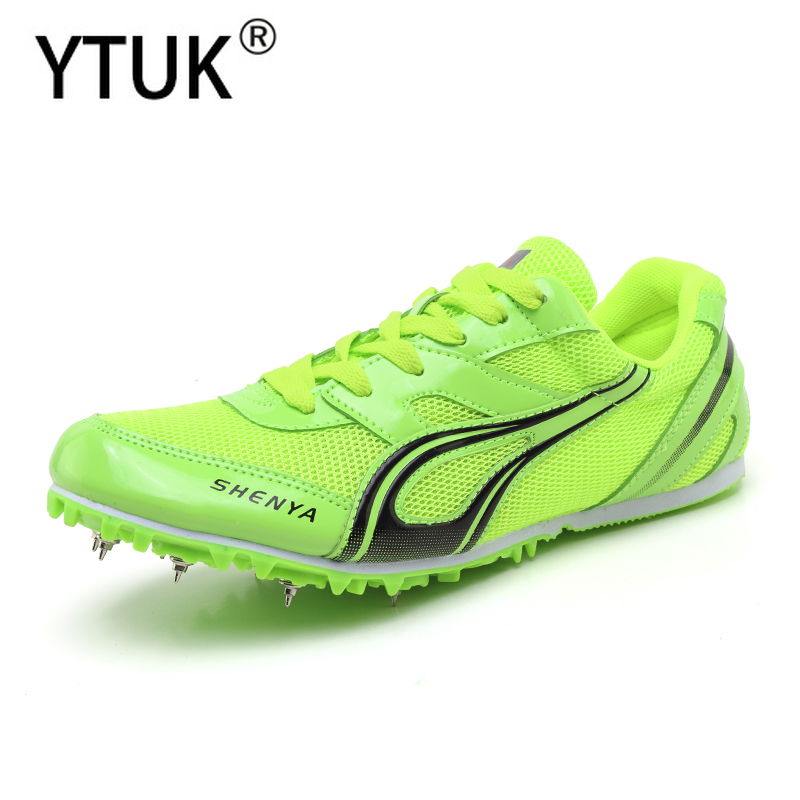 YTUK Outdoor lawn Track and Field Shoes Men Woman Breathable Spikes Shoes Athletics Unisex Lightweight Running Nails Sneakers