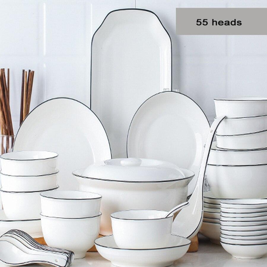 Ensemble de vaisselle en céramique nordique | Céramique assiettes de Style japonais, vaisselle en céramique nordique assiettes de table, micro-ondes ménagers