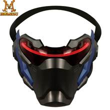Molezu OverWatch Pioneer Mask Halloween Cool Mask Prop Collection Cosplay OverWatch Pioneer Mask For Party(China)