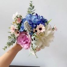 Mix Bouquet Artificial  Flowers wedding flower Home Party Travel ornaments
