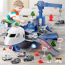 Inertia Airplane Toy Deformation Music Simulation Track Children Aircraft Large Size Passenger Plane Kid Airliner Toys Alloy Car