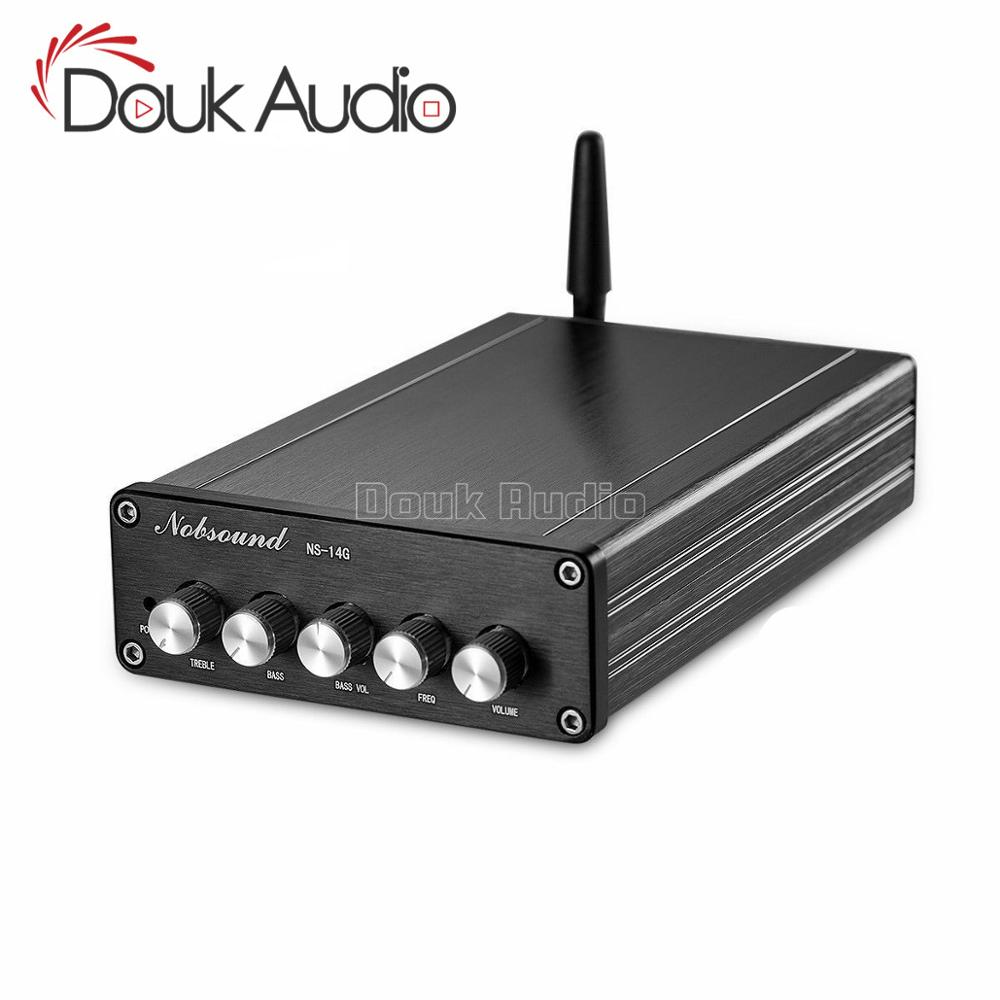 Douk audio HiFi Bluetooth 5.0 Subwoofer Audio Stereo TPA3116 Digital Mini 2.1 Channel Desktop Power Amplifier-in Amplifier from Consumer Electronics