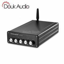 Douk audio hifi bluetooth 5.0 서브 우퍼 오디오 스테레오 tpa3116 디지털 미니 2.1 채널 데스크탑 전력 증폭기