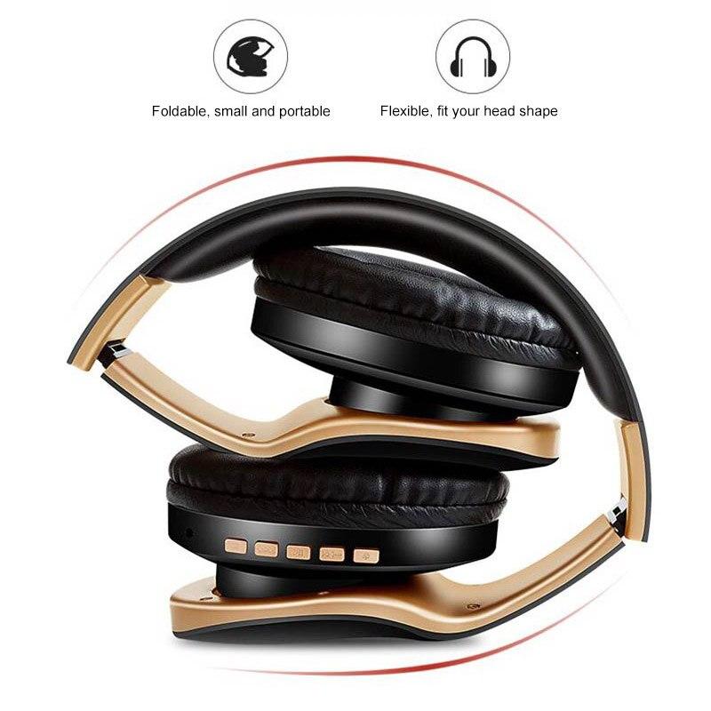 Image 2 - PunnkFunnk Wireless Headphones V5.0+EDR Bluetooth Headset For Mobile Phone Mp3 Foldable Stereo Noise Reduction Gaming EarphonesBluetooth Earphones & Headphones   -