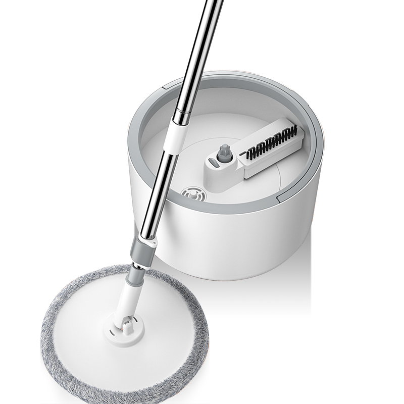 Microfiber Mop Tile-Cleaner Bucket Flow-System Round 360-Cleaning-Tools Magic Adjustable-Handle