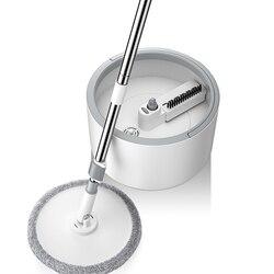 Magic Microfiber Mop Met Ronde Emmer Verstelbare Handvat Huishouden Veegmachine Tegel Cleaner Carton Flow Systeem 360 Cleaning Tools
