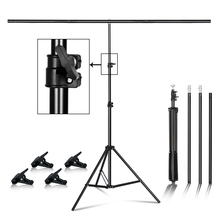 T shape Metal Backdrop Background Stand Frame Support Multiple Sizes For Photography Photo Studio Video Cromakey Green Screen