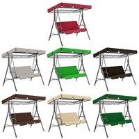 Columpio de jardín de tela Oxford, asiento de Patio + cubierta superior, impermeable, colgante de Patio, hamaca, silla, dosel, 2 uds.
