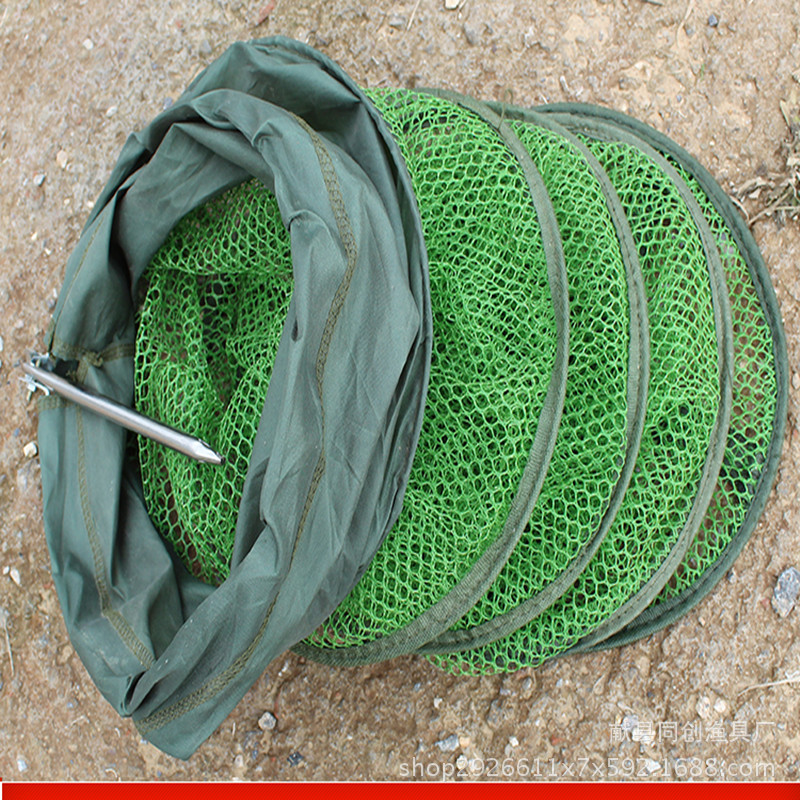 Gelatinization Anti Hanging Stainless Steel To Fork Foldable Fish Protection Rubber Hanged Fish Net Fishnet Fish Net Bag Fishnet