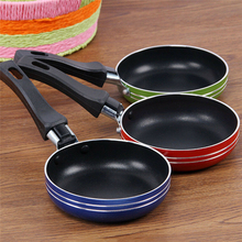 12cm Mini Cooking Pan Non-Stick Frying Pan Portable Breakfast Pan with Handle Suitable for Frying Eggs and Making Breakfast Tool