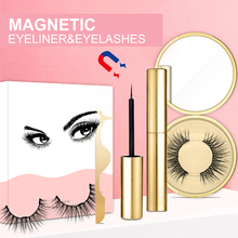 Natural Thick Magnetic Eyeliner Eyelashes Set No Glue Prevent Allergy Handmade Magnetic Fake Eyelashes With Eyelashes Applicator
