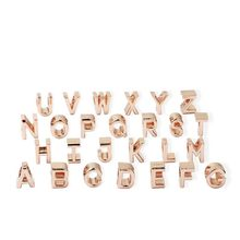 2019 new 1pc rose gold A-Z initial letter of the alphabet diy bead fit pandora charms bracelet for women men jewelry EL200(China)