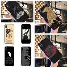 The Raven Poem Phone Case Crow writing classic Silicone Black Sotf TPU Cover For iphone 11Pro MAX 6 6s 7 8plus 5s X XS XR XSMax