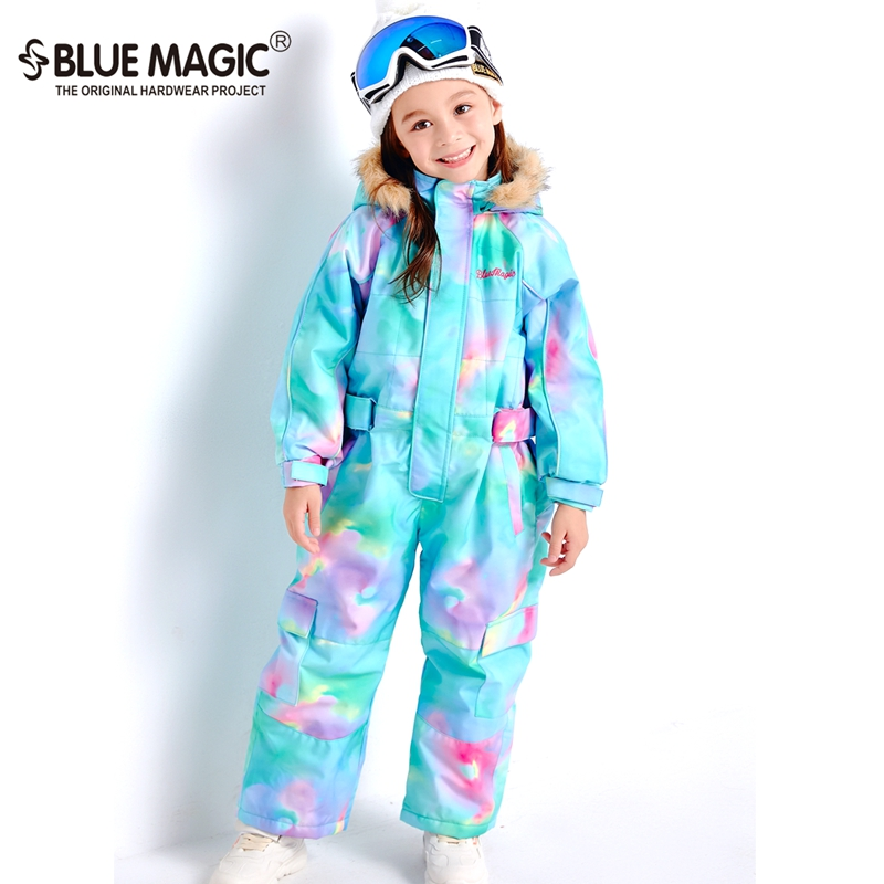 19 лыжных костюмов bluemagic для детей, водонепроницаемый комбинезон для прогулок на открытом воздухе для девочек и мальчиков, куртка для сноуборда Водонепроницаемый Лыжный комбинезон-30 градусов - Цвет: SCC