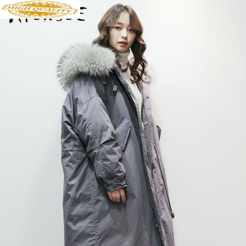 2019 New Duck Down Jacket Women Winter Coat Women Raccoon Fur Collar Korean Puffer Jacket Women Warm Parka YS6101910 YY1598