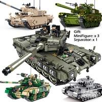 Military battle Loepard 2 II M60 Type 99 T90 Main tank Model DIY compatible Legoed assemble building block bricks kids Toys gift