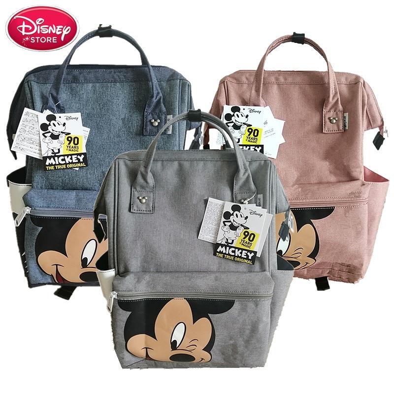 Genuine Disney Bags Fashion Backpack Leisure Back Pack Ladies Knapsack Casual Travel Mummy Bags School Girls Classic Bagpack
