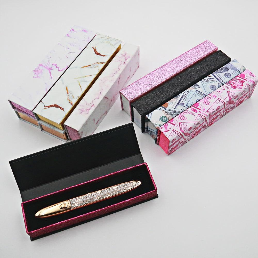 10 PCS Boxes For Diamond Magic Self Adhesive Liquid Wholesale Makeup Lash Gule Pen Package Custom Ey