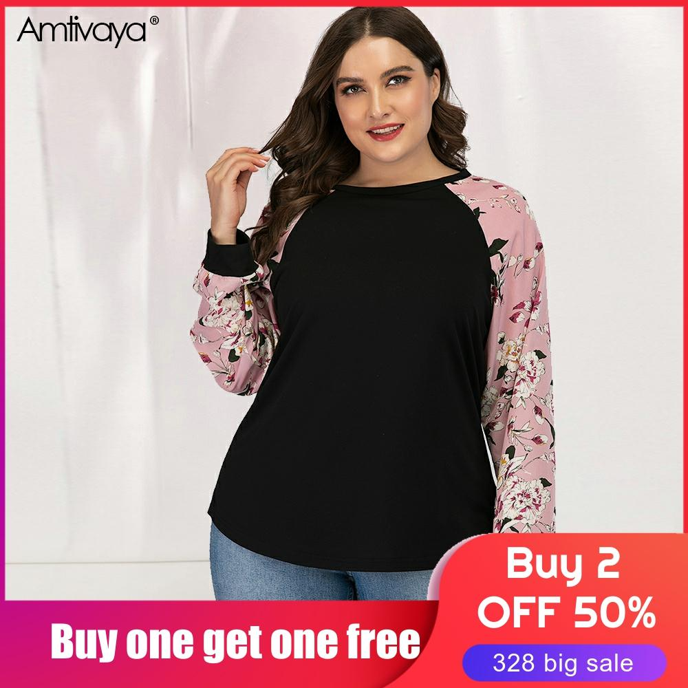 Amtivaya Women Plus Size Clothes Sleeve Style Length(cm) Collar Clothing Length Age Pattern Type Fabric Model Number Material