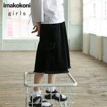 Черные укороченные широкие брюки imakokoni женские вельветовые