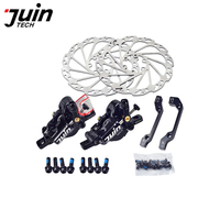 Juin Tech M1 MTB mountain bicycle electric bike disc brake set cable line pull hydraulic Disc Caliper 160mm MTB XC e bike