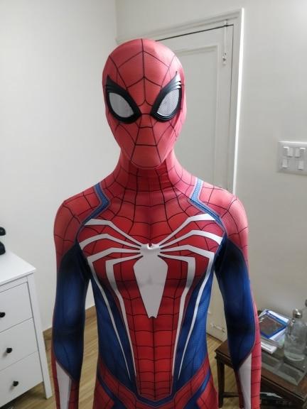 Spider Game PS4 Insomniac Spiderman Cosplay Costume 3D Print Spandex Halloween Spiderman Zentai Suit Adult/Kids