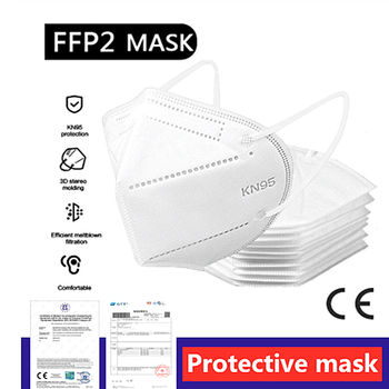 FFP2 FFP3 Masks KN95 Adaptable Against Pollution Breathable N95 Mask Safety Nonwoven Earloop KN95 Protection level Protective