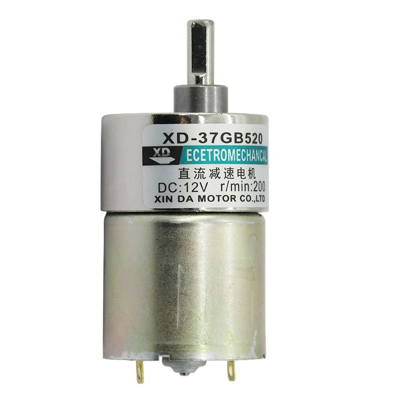 12V/ 24V <font><b>10W</b></font> XD-37GB520 Miniature Gear <font><b>DC</b></font> Geared <font><b>Motor</b></font> Low Speed High Torque Adjustable speed adjustable direction image