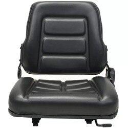 조정 가능한 등받이가있는 VidaXL 지게차 및 트랙터 트랙터 시트 검정색 고품질 트랙터 시트 V3