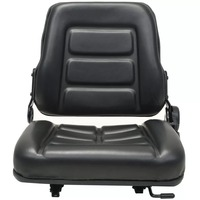 VidaXL Forklift & Tractor Tractor Seat With Adjustable Backrest Black High Quality Tractor Seat V3|Furniture Accessories| |  -