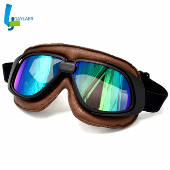 Estilo Retro motocicleta moto Scooter ATV Pit Dirt Biker Cruiser gafas casco gafas 5 colores opción