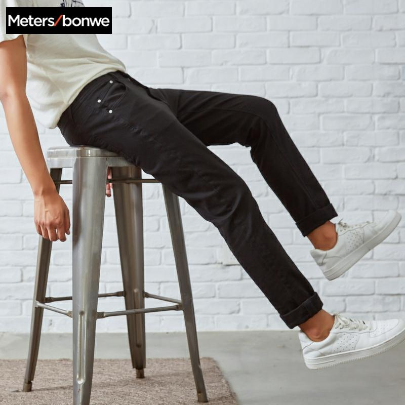 Metersbonwe Straight Jeans Men 2020 Spring Autumn New Casual Youth Retro trend stretch Slim Jeans Men Pants Men Trousers