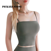 PS New Seamless Yoga Top Women Fitness Crop Top Wire Free Yoga Vests Gym Sport Tops With Padded Hot Exercise Jogging Shirts