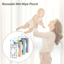 4PCS Baby Wipes Case Holder Portable BPA-Free Wet Wipes Pouch Refillable Lightweight For Keeps Wet Wipes Fresh Baby Gorgeously