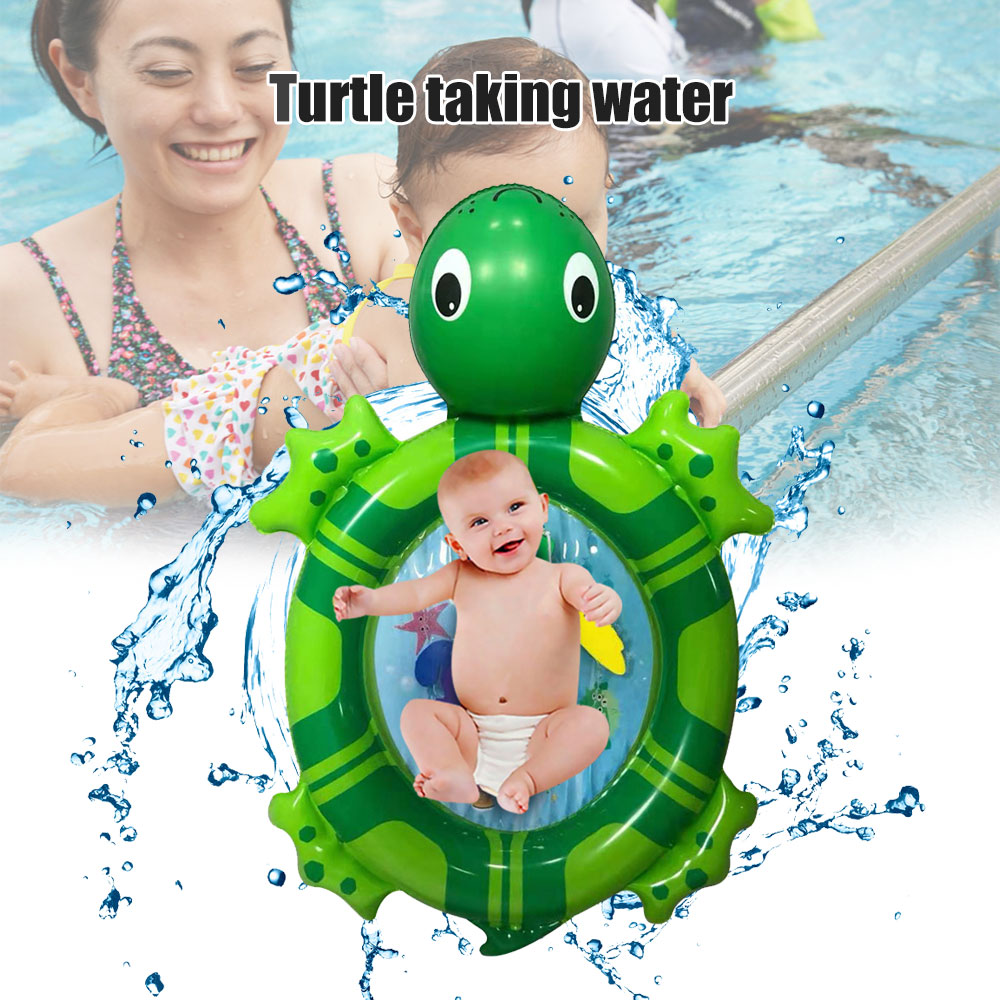 Inflatable Water Mat Sea Turtle Shape Infants Toddlers Play Mat Swimming Toy BM88