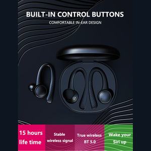 Image 4 - T7 Pro TWS Earphone Wireless bluetooth 5.0 Earhooks Silicone Soft Hifi Stereo Sports In Ear Headset with Charging Box