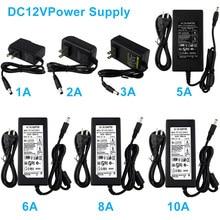 DC12V EU/US/UK AU Порты и разъёмы штекер Питание адаптер DC12V светодиодный трансформаторы 1/2/3/5/6/8A AC100-240V конвертер адаптер