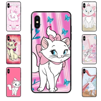Big Kid Aristocats Marie Black Soft Cool Best Cover Case For Apple iPhone 11 12 Pro 5 5S SE 5C 6 6S 7 8 X XR XS Plus Max image