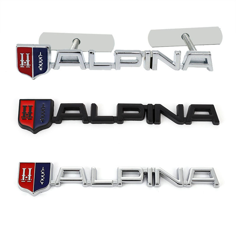 Металлическая 3d-наклейка на автомобиль, наклейка на переднюю крышку капота, решетка радиатора для BMW Alpina M 3 5 6 X1 X3 X5 X6 Z E46 E39 E60 E90 E60