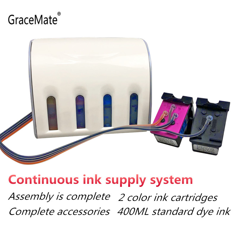 GraceMate 901 Ink Supply System Compatible for Hp Officejet 4500 J4500 J4540 J4550 J4580 J4680 Printer
