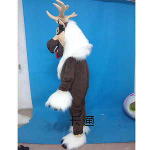 Image 2 - Adult Deer Mascot Costume Sven Costume Reindeer Mascot Anime Costumes Advertising Mascotte Fancy Dress Kits