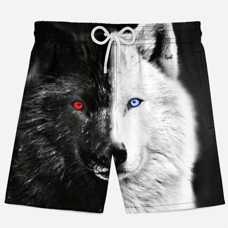 3d Wolf Shorts Summer Breathable Beach Shorts Men Animal Casual Short Pants Cool Hip Hop Mens Shorts Wolf 3d Printed Shorts