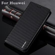 Iş karbon Fiber kılıf Huawei P30 Lite P20 Nova 4e cüzdan çevirme PU deri kapak için Mate 20 Pro yumuşak tampon Coque Fundas