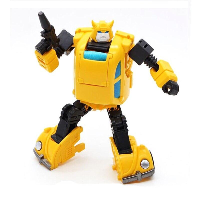 10 см размер желтый автомобиль робот Классические игрушки для мальчиков Фигурки HS09